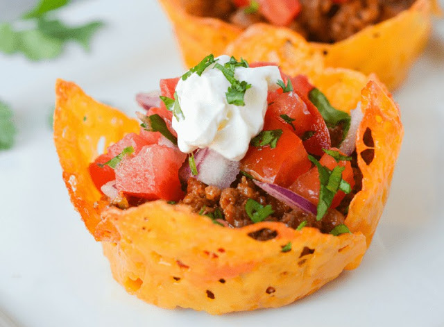 keto diet cheese shell taco cups