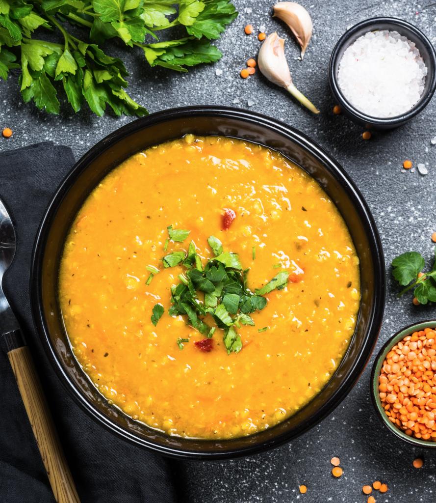 image of vegan lentil soup